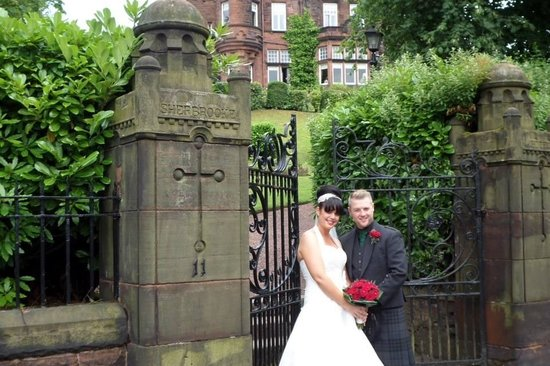 Sherbrooke Castle Hotel: on our wedding day