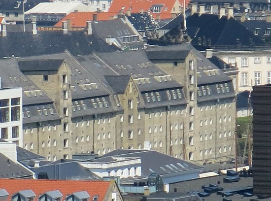 Copenhagen Admiral Hotel: The hotel as viewed from a church spire