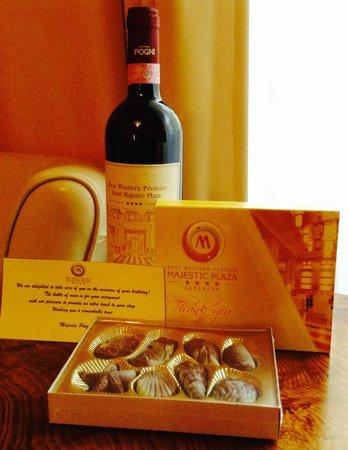 Hotel Majestic Plaza Prague: Birthday gifts