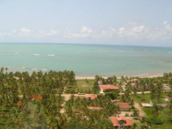"""Japaratinga Beach : Os Bangalôs ficam ali, pertinho da areia. Que """"chato""""."""