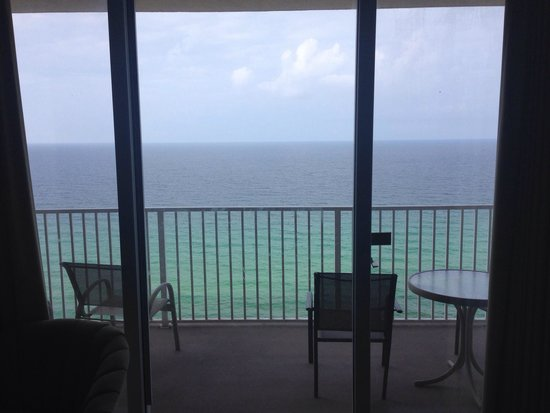 Tidewater Beach Resort : View from the 17th floor from inside