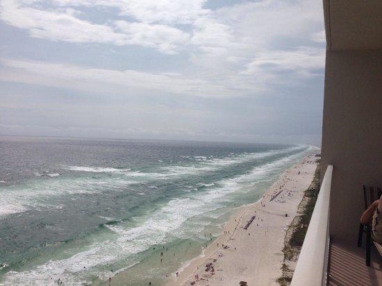Tidewater Beach Resort : 17th floor view.