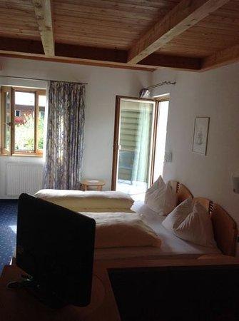 Hotel Restaurant Der Rierhof : camera matrimoniale con camerett x bimbi su soppalco