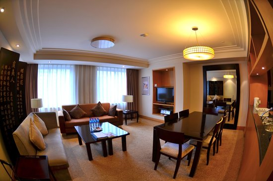 Ascott Beijing : The Living Room of the 2 Bedroom Apartment
