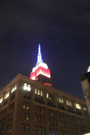 Le Roger : La vue de notre chambre sur l'Empire State Building