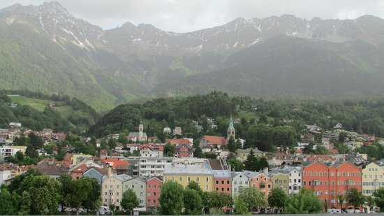Basic Hotel Innsbruck: View from the room - this is a slightly zoomed view though - check the review