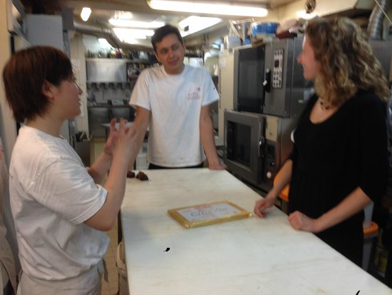 Meeting the French Tours: Discussing folding the butter into the pate feuillete for croissants