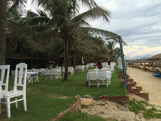 Cua Dai Beach: endless seafood restaurants on the beach