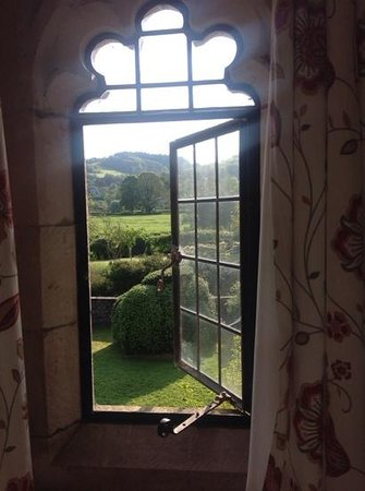 Bickleigh Castle: window view from bridal suite