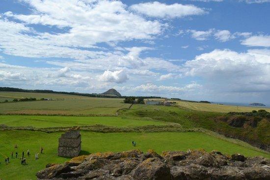 Tantallon Castle: Vue du haut du château