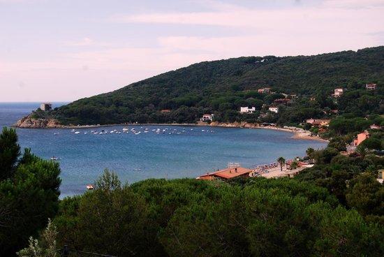 Hotel la perla del golfo: La spiaggia di Procchio vista dall'hotel