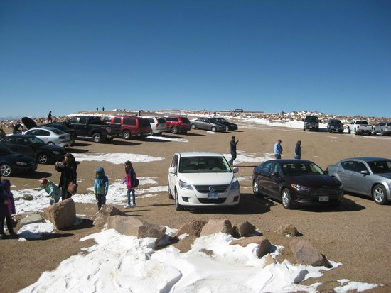 Pikes Peak Parking >> Top Parking Lot Fotografia De Pikes Peak Colorado Springs