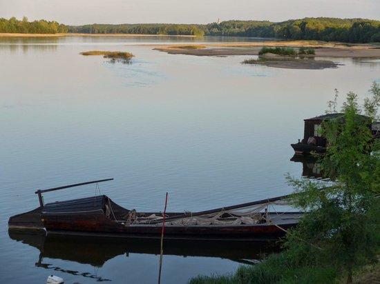 """La Route du Sel: Une """"toue"""" amarrée au Thoureil"""