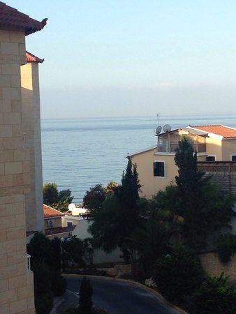 Atlantica Bay Hotel: View from room 424 - a sea view without upgrading to a sea view room.