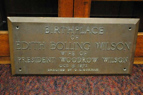 Edith Bolling Wilson Birthplace Museum : Nice sign.