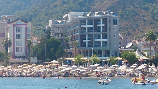 Sunrise Hotel: External from the sea