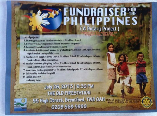 The Old Fire Station: Hosted a Haiyan fundraiser for the people of The Philippines