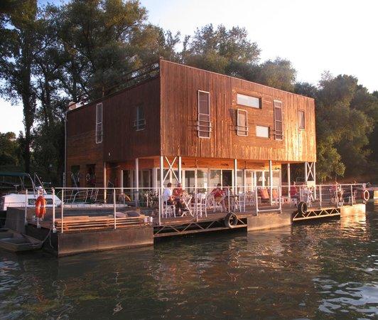 Arkabarka Floating Hostel: View fro river