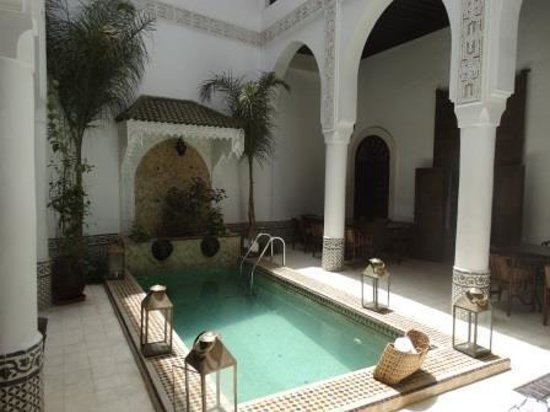 Riad Dar Saad: Patio piscine