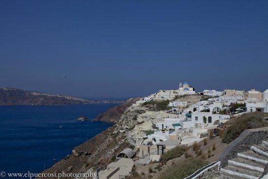 Nikos Villas: views from hotel
