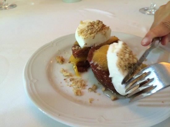 Asitane: Peach Walnut dessert