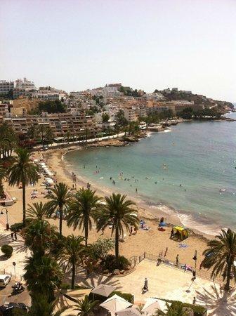 Hotel Ibiza Playa: Vista dal balcone