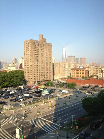 Holiday Inn NYC - Lower East Side: World Trade Center from room on Delancey St side of the hotel