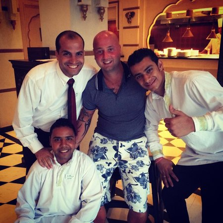 SUNRISE Grand Select Crystal Bay Resort: Our favourite waiters- Ahmed, Mini Ahmed and Mamood