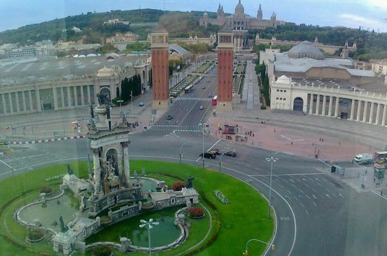 Catalonia Barcelona Plaza : in fantastico panorama visibile dalla camera