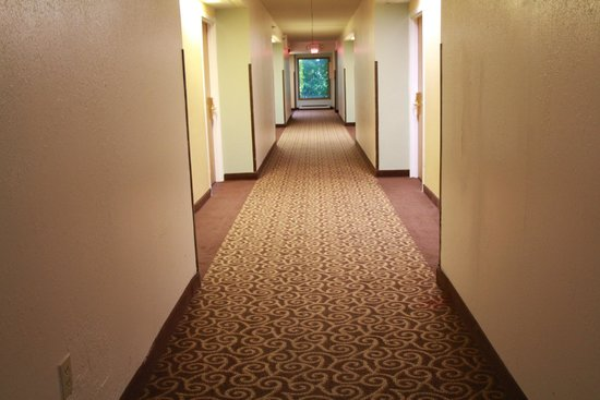 Inn At Grand Glaize: hallway old carpet
