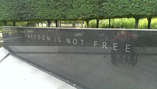 Korean War Veterans Memorial : Wise words to remember