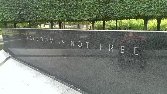 Korean War Veterans Memorial: Wise words to remember