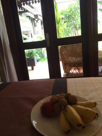 Saem Siemreap Hotel : Welcome fruit