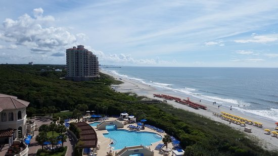 Marriott's OceanWatch Villas at Grande Dunes: view from our room in Scallop building