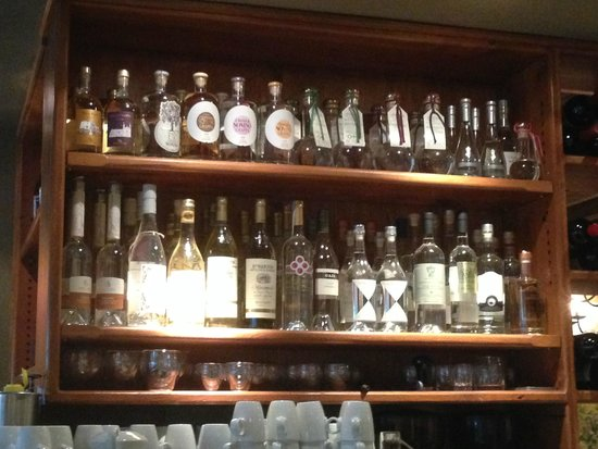 CinCin Ristorante + Bar : one of the largest Grappa collections I have ever seen!