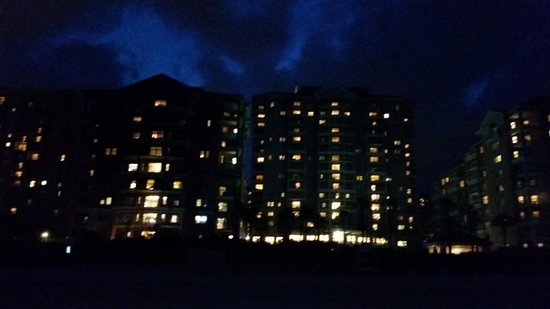 Marriott's OceanWatch Villas at Grande Dunes: night time view