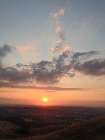 The Malvern Hills at sunset