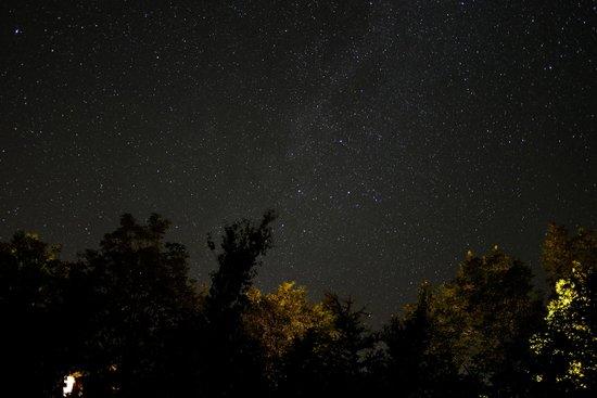 Cheticamp Outfitters Inn B & B: ciel étoilé vu de notre gîte