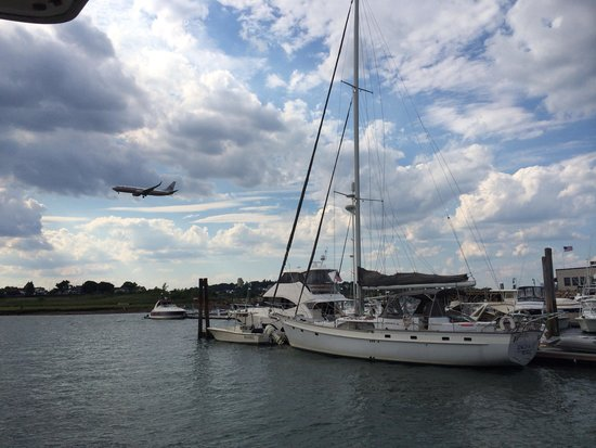 Green Turtle Floating Bed and Breakfast : Planes coming in