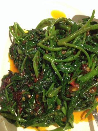 No Signboard Seafood Restaurant : Sambal kangkong