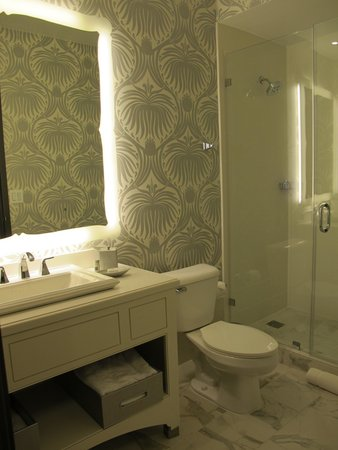 The Silversmith Hotel: Rm 302 bathroom.