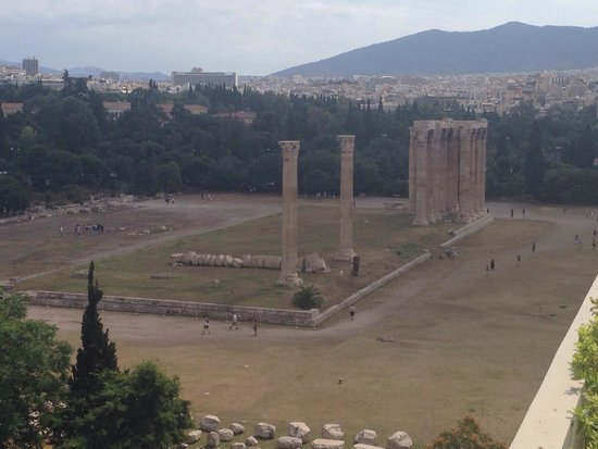 The Athens Gate Hotel: View from our balcony - Temple of Zeus!