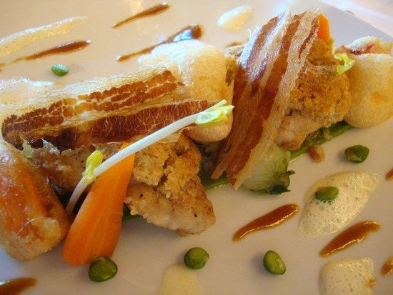 Restaurant Le Pressoir : Ris de veau et homard breton...