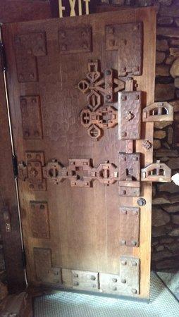 Gillette Castle State Park: One Of The Wooden Doors Inside The Castle    Brilliant !