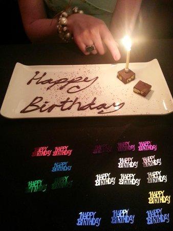 Porto Restaurant: Our birthday treat from the staff @ Porto
