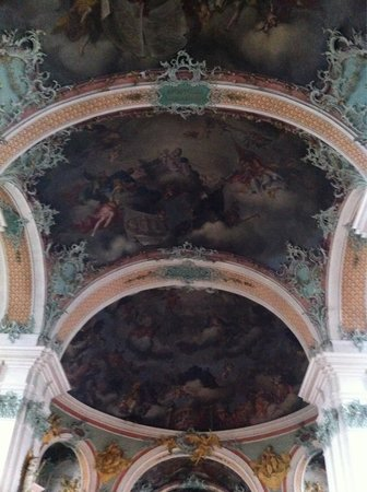 Fürstabtei St. Gallen: Frescoes on the ceiling of the cathedral