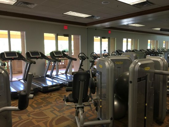 The Langham Huntington, Pasadena, Los Angeles: New fitness room.  5 treadmills.