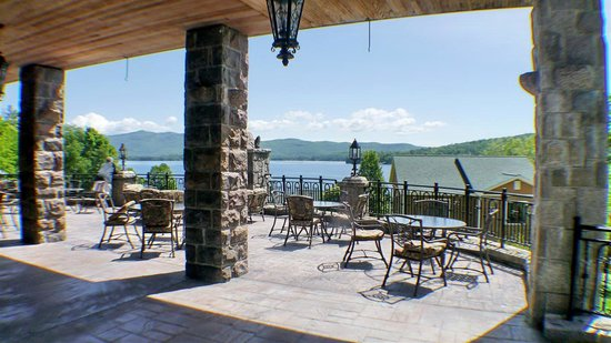 The Inn at Erlowest: lower terrace
