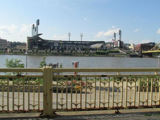 Looking across the river at PNC Park