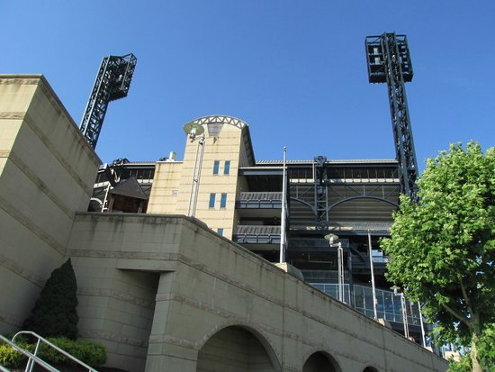 View of PNC Park from the riverwalk